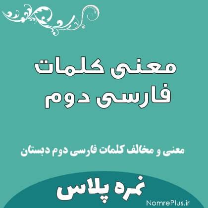 معنی کلمات فارسی دوم ابتدایی